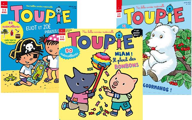 Les couvertures des derniers magazines Toupie