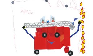 Alice camion pompier concours dessins