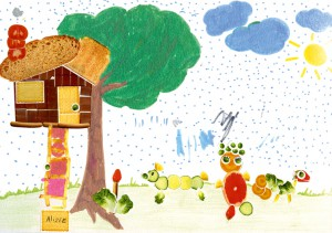 Alizee nourriture dessin enfant
