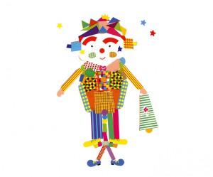 Auxane clown autocollants concours