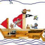 Clarence dessin bateau pirate enfant concours