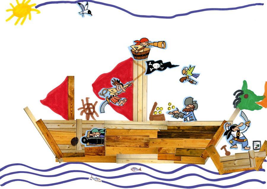 Clarence dessin bateau pirate enfant concours toupie - Dessin bateau enfant ...