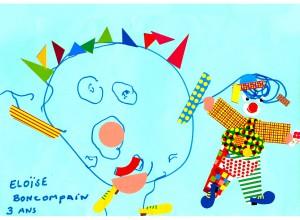 Eloise clown dessin concours