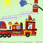 Ethan camion pompier concours dessins