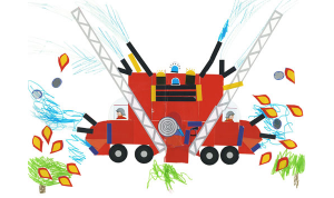 Eulalie camion pompier concours dessins