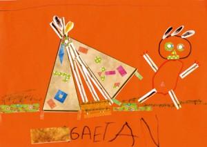Gaetan dessin indien enfant concours