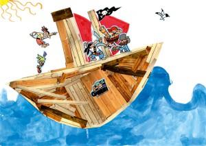 Jasmine bateau pirate enfant concours