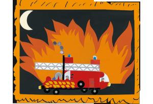 Jeanne camion pompier concours dessins