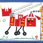 Lise camion pompier concours dessins