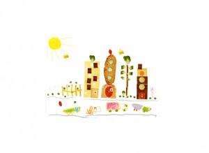 Luc ville alimentation nourriture dessin