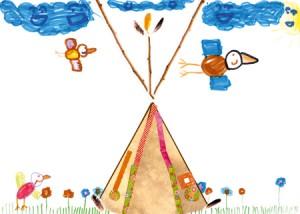 Marie-Amelie dessin indien enfant concours