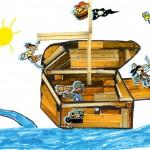 Marius bateau pirate enfant concours