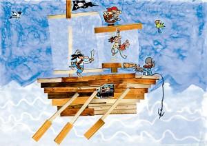 Nael dessin bateau pirate enfant concours