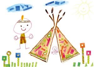 Paul dessin indien enfant concours