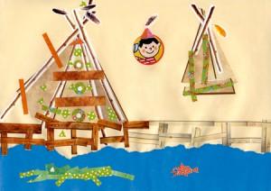 Pierre dessin indien enfant concours