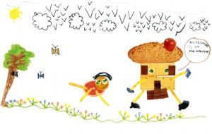 Sacha nourriture dessin enfant