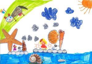 Concours Toupie, dessine un bateau en coquillages : juliette