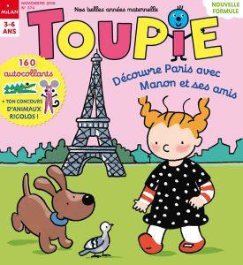 Couverture Toupie : Découvre Paris avec Manon et ses amis - Novembre 2016