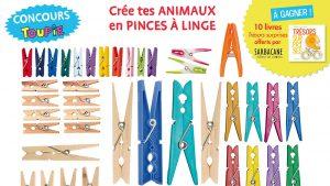"""Concours """"Créé ton animal en pinces à linges"""" - Toupie Magazine, Novembre 2016"""