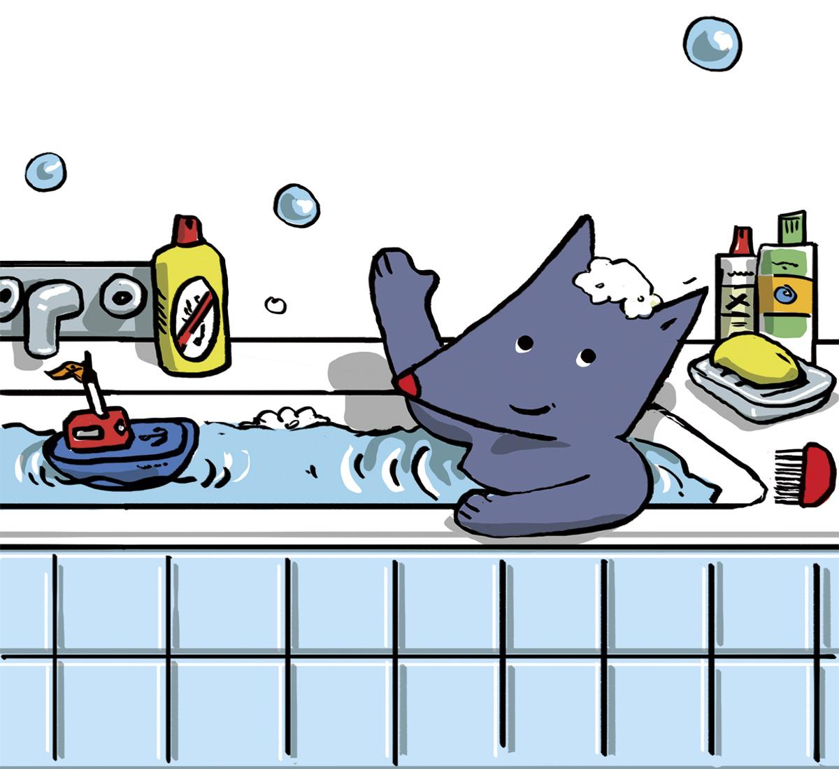 poux tiloulou comptine bain