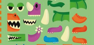 Autocollants concours dinosaures - Toupie Magazine