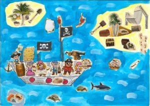 Souquez ferme, les pirates, Elian a caché le trésor à bâbord !