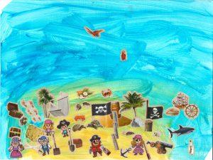Quelque part au milieu des flots se cache la belle île de Léo…