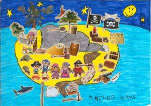 Bravo, Mathéo, ton île sous les étoiles est de toute beauté !