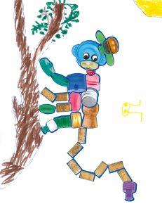 Qui se promène et se balance en haut des branches ? Le singe d'Hortense, pardi !