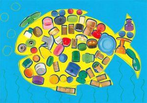 Ilyès, avec ses écailles en bouchons, ton gros poisson est vraiment trop beau !