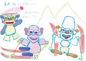 Bravo, Anaëlle et Gaëtan, dans votre yéti family, tout le monde fait du ski !