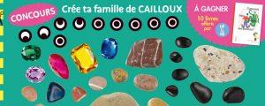 """Concours """"Crée ta famille de cailloux"""" avec les autocollants de Toupie magazine"""