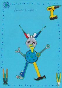 Bravo, Axel ! Avec ses antennes, ton robot Edouardo est trop beau.