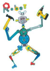 Bravo, Kamil, d'avoir écrit le mot « robot » avec des écrous et des boulons.
