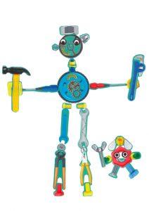 Pour vous aider à bricoler, appelez Lipoulipou et Joli, les deux robots de Léandro !