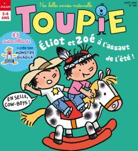 Éliot et Zoé à l'assaut de l'été dans Toupie Magazine