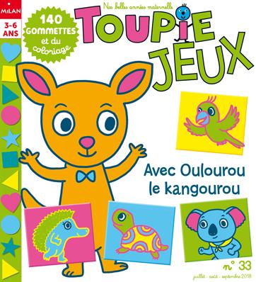 Magazine Toupie Jeux avec Oulourou le kangourou