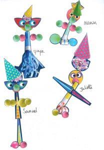 Chapeaux pointus, turlututu, Juliette et sa famille vous attendent pour faire la fête !