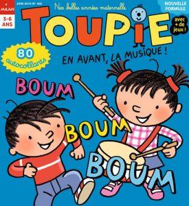 """Couverture Toupie Magazine """" En avant, la musique !"""""""
