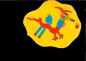 Félicitations, Talya, ton dragon cracheur de feu a vraiment fière allure !