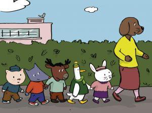 Tiloulou, marcher sur le trottoir quand on est enfant