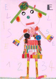 1, 2, 3, 4… Première leçon de mathématiques avec la maîtresse d'Élise.