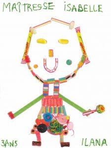 La maîtresse d'Ilana souhaite une bonne rentrée à tous les enfants !