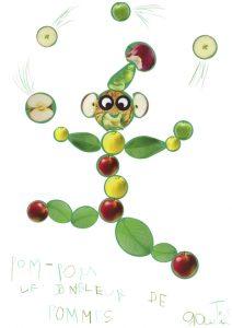 Bienvenue au cirque de Gautier ! Découvrez le numéro de Pom-pom le jongleur de pommes !