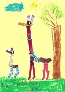 On souhaite une bonne balade à Éléonore et sa famille girafe.