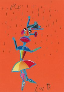 Ton bonhomme a l'air de danser sous la pluie, Lola !