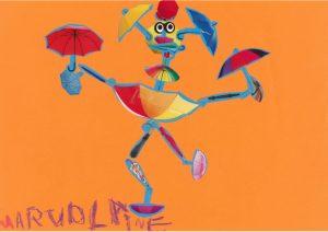 Quel beau mouvement de danse, bravo Marjolaine !