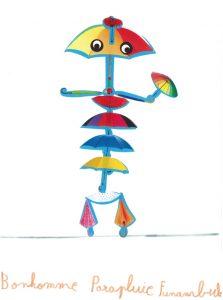 Un bonhomme parapluie funambule, quelle jolie idée Rafaël et Sarah !