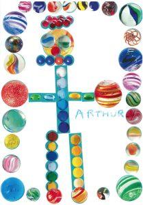 Bravo, Arthur, ton collage est un véritable tableau !