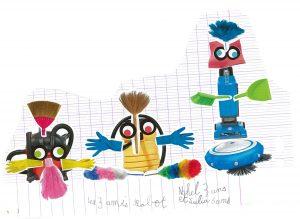 Nahel et Julia, vos trois amis robots aspiro sont vraiment rigolos !